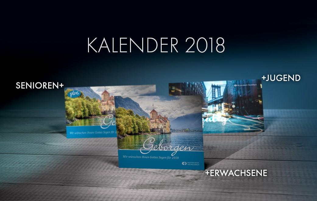 2018 gibt es Kalender für jeder Zielgruppe