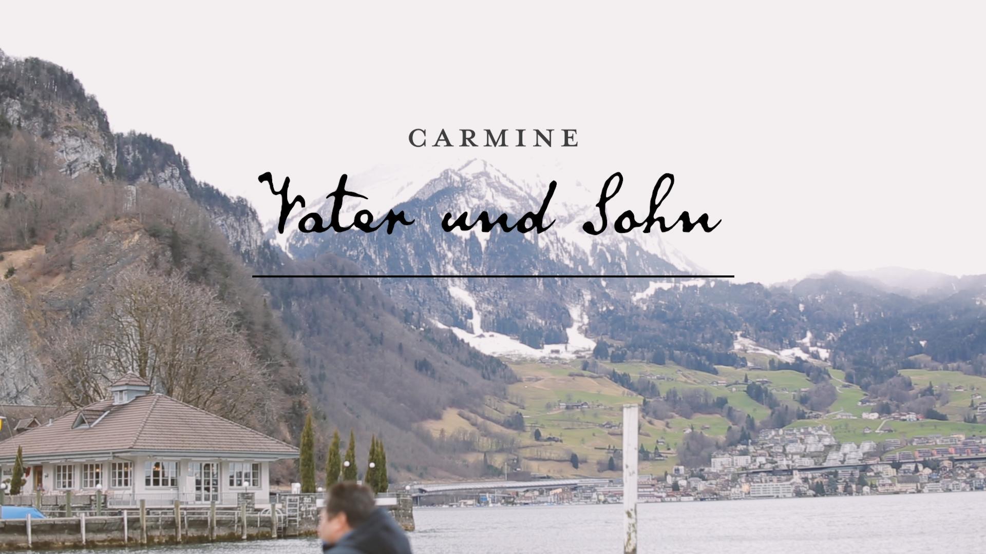 Dorf in den Bergen, See als Titelbild für Zeugnis Carmine - Vater und Sohn
