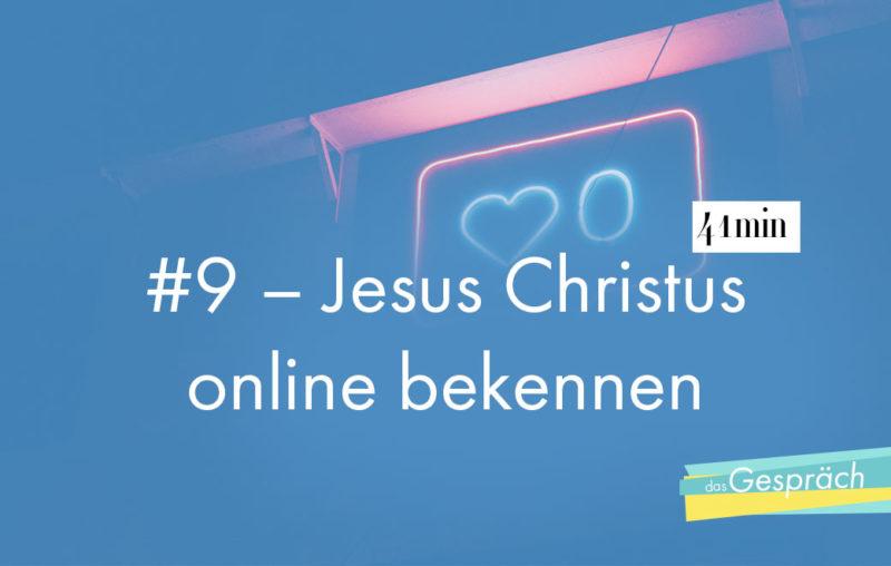 Neonlicht als Titelbild für das Gespräch Jesus Christus online bekennen