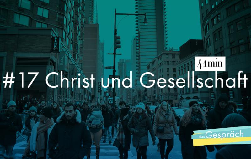 Christ und Gesellschaft - das ist das Thema von Wolfgang Nestvogel