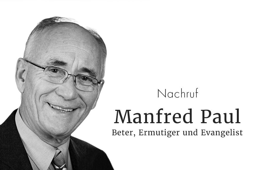 Manfred Paul - ein Nachruf