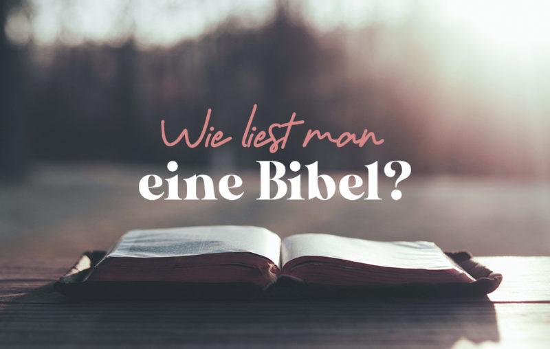 Wie liest man eigentlich eine Bibel?